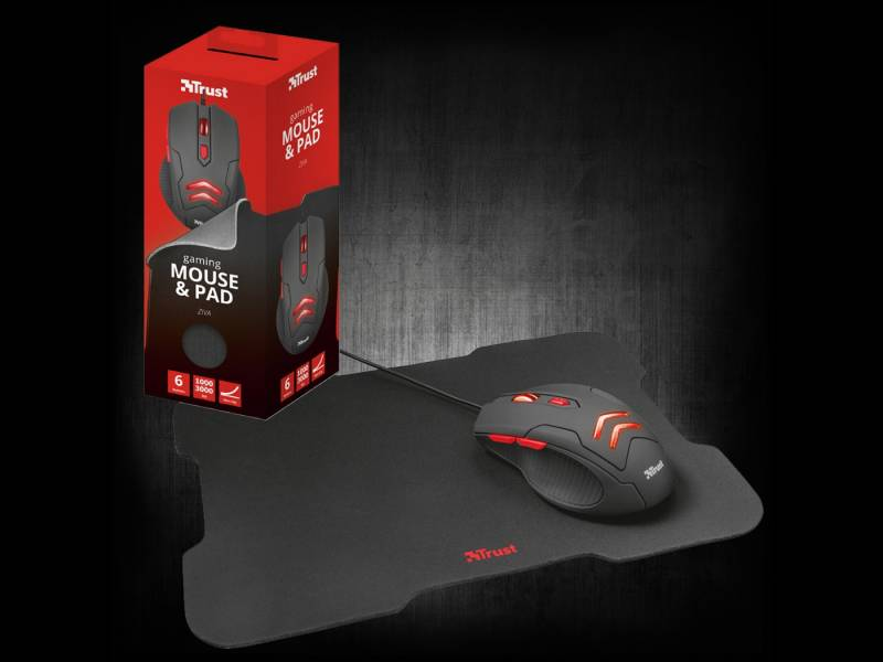 Combo Mouse y Mouse Pad TRUST ZIVA